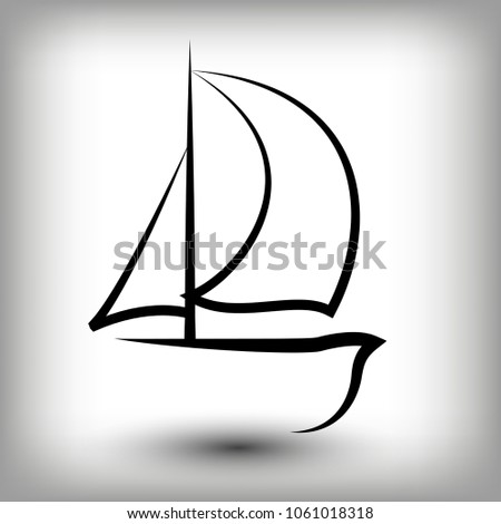 yacht logo templates sail boat silhouettes stock vector 2018
