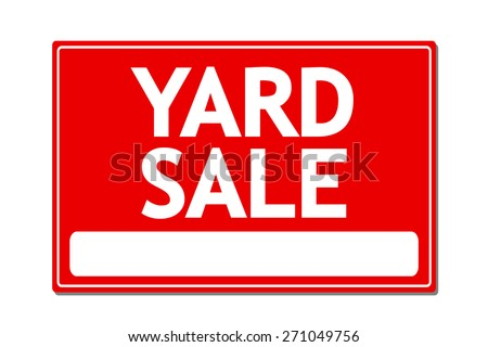 Yard Sale Vector Sign - stock vector