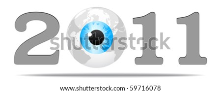 year 2010 - stock vector