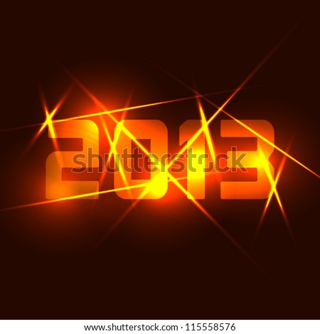 Year 2013 card background - stock vector
