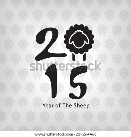 Year of The Sheep Square Design, 2015 new year high quality vector eps10