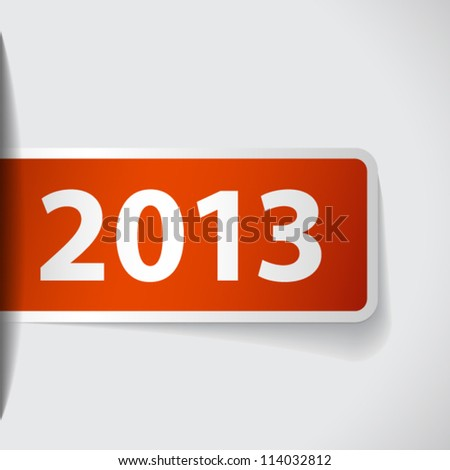Year 2013 on ticket inserted to slot - stock vector