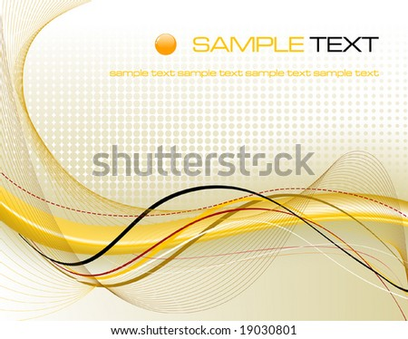yellow abstract composition - vector illustration - stock vector