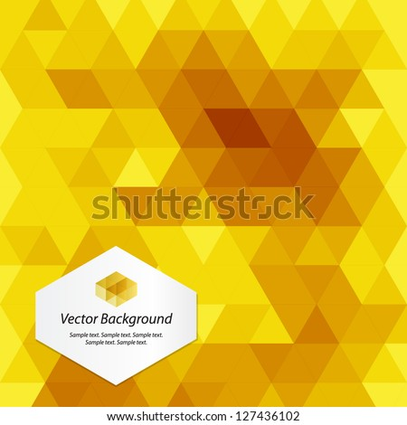 Yellow abstract geometrical background - stock vector