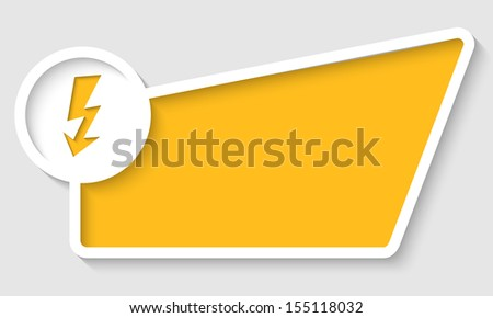 yellow abstract text box and arrow