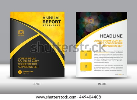 Book With Black And Yellow Cover : Yellow black annual report template cover stock vector