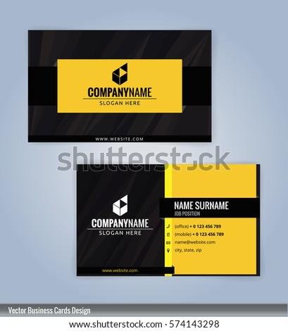 Yellow black modern business card template stock vector royalty yellow and black modern business card template illustration vector 10 colourmoves