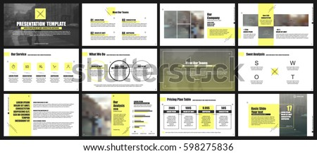 Yellow and gray elements for infographics. Presentation templates. Use in presentation, flyer and leaflet, corporate report, marketing, advertising, annual report, banner.