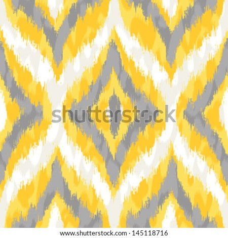 Gray Ikat Background Yellow And Gray Wild Ikat