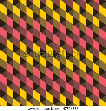 yellow and  pink abstract square design pattern background vector