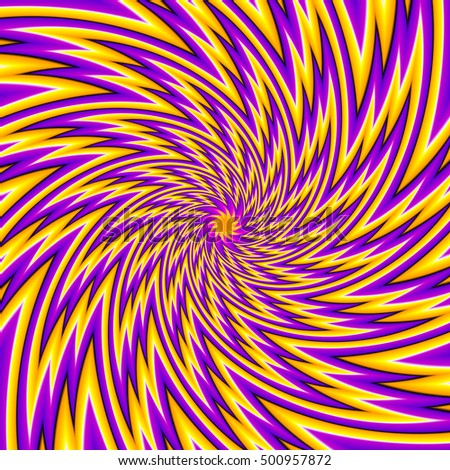 Yellow and purple flower (spin illusion)