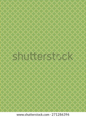 Yellow and white circle pattern over green color background - stock vector