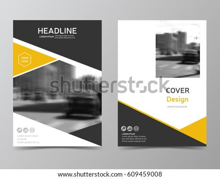 Yellow Annual Report Cover Modern Brochure Stock Vector