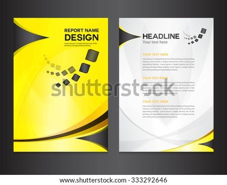 free company profile brochure template - company profile template stock images royalty free images