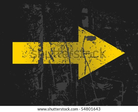 yellow arrow - stock vector