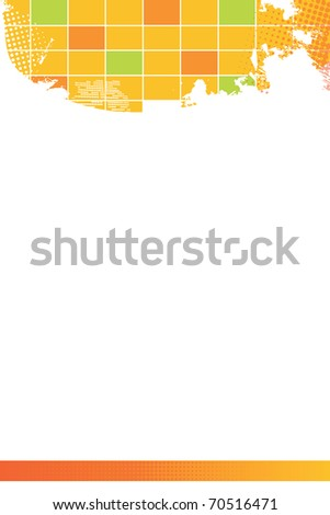 Yellow background - stock vector