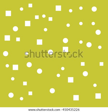 Yellow Background With geometric elements - stock vector