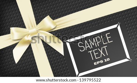 yellow bant on black background - stock vector