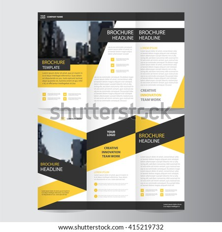 black brochure template - trifold stock images royalty free images vectors