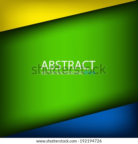 Yellow blue green background graphic dimension overlap for text and message design - stock vector