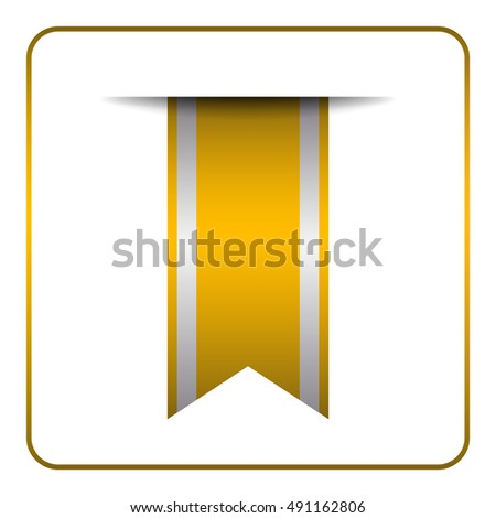Green Gold Bookmark Banner Vertical Book Stock Vector
