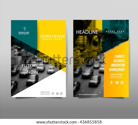 Yellow Brochure Template Layout Cover Design Stock Vector (2018 ...