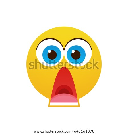 yellow cartoon face shocked people emotion stock vector 648161878