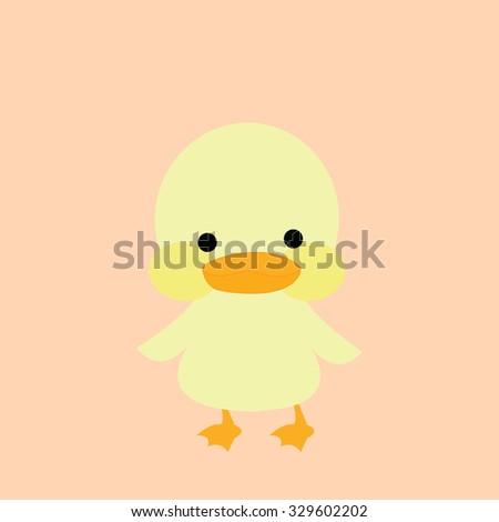Yellow duck Vector background - stock vector