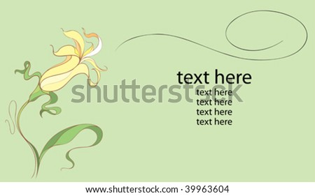 yellow flower - stock vector