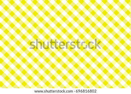 Yellow Gingham Seamless Pattern. Texture From Rhombus/squares For   Plaid,  Tablecloths,