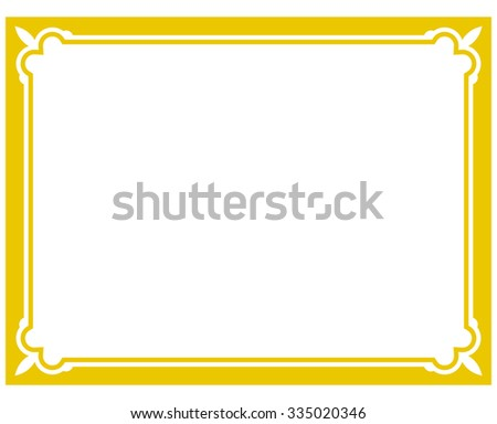 yellow gold border frame deco vector art simple line corner - Yellow Frame