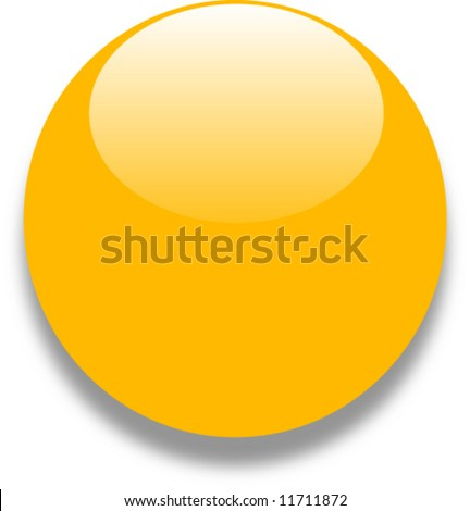 Yellow gold glass web button - stock vector