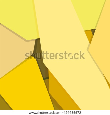 Yellow gradient geometric background material design overlap layer - stock vector