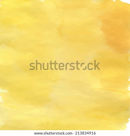 Yellow graphic design. Watercolor background made in a vector.