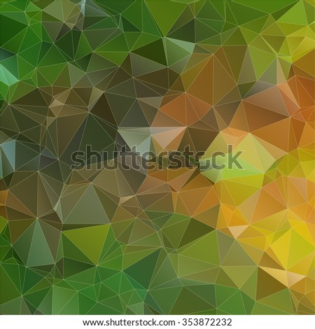yellow green abstract Two-dimensional  colorful background for web design - stock vector