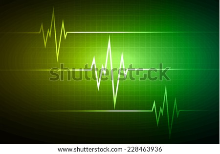 Yellow green Heart pulse Light Abstract Technology background for computer graphic website and internet.