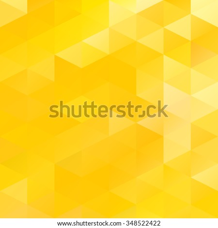 Yellow Grid Mosaic Background, Creative Design Templates - stock vector