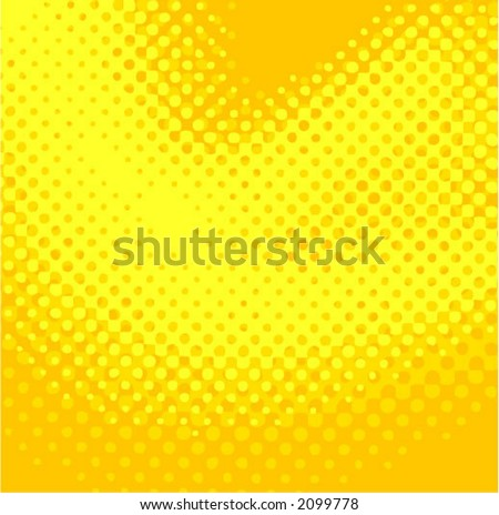 yellow halftone - color can be changed - stock vector
