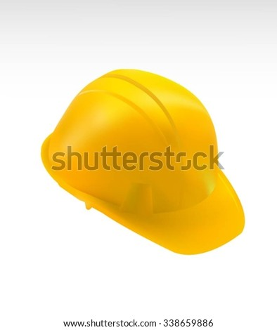 Yellow Hard Cap.Helmet Isolated - stock vector