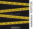 yellow lines over black background. vector illustration - stock photo