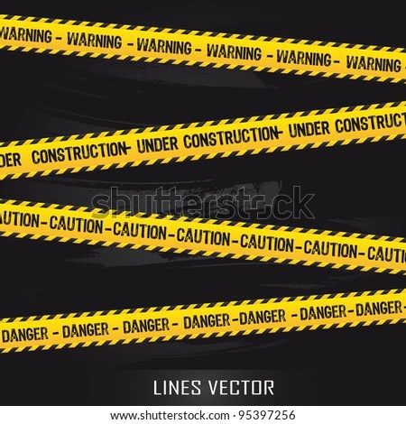 yellow lines over black background. vector illustration - stock vector