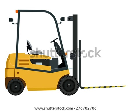 Yellow loader on a white background  - stock vector