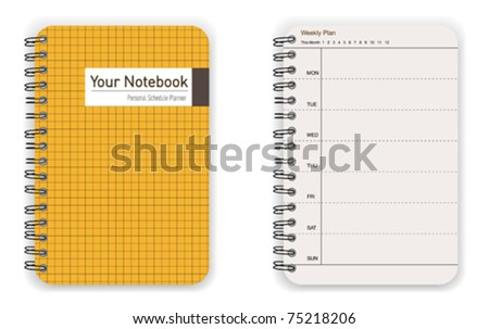 Yellow Notebook - stock vector