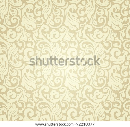 Yellow pattern seamless, vector - stock vector