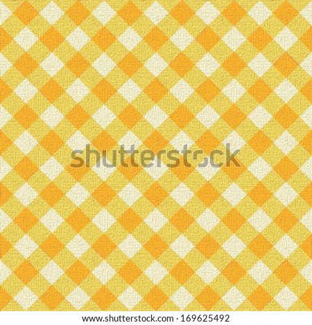 Attractive Yellow Plaid Tablecloth