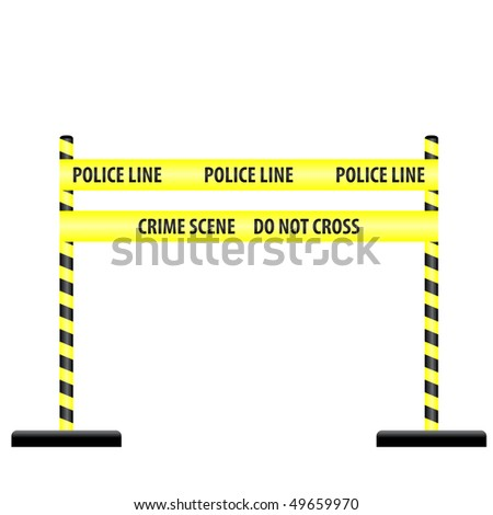 yellow police line - stock vector
