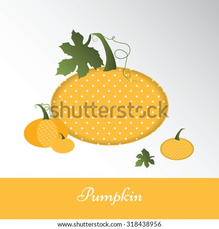 Yellow pumpkin. Vector illustration - stock vector