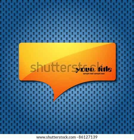 yellow quote speech bubble - stock vector