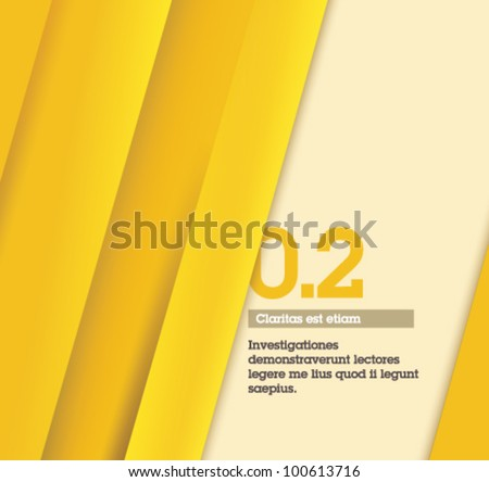 Yellow Retro Abstract Design / number two - Fully editable / suitable for infographics / numbered banners / yellow design template - stock vector