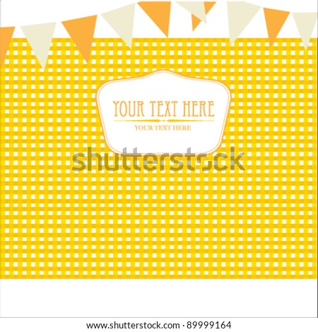 yellow scotch Background - stock vector